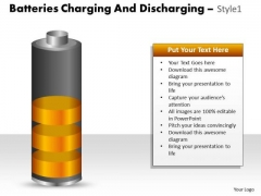 Consulting Diagram Batteries Charging And Discharging Style 1 Sales Diagram