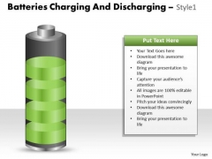 Consulting Diagram Batteries Charging And Discharging Style Sales Diagram