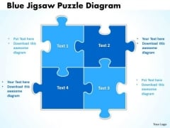 Consulting Diagram Blue Jigsaw Puzzle Diagram Strategy Diagram
