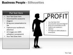 Consulting Diagram Business People Silhouettes Marketing Diagram