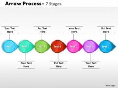 Consulting Diagram Circle Arrow 7 Stages Sales Diagram