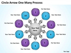 Consulting Diagram Circle Arrow One Many Process Strategic Management