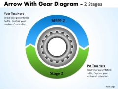 Consulting Diagram Circular Arrows With Gears 2 Stages Strategy Diagram