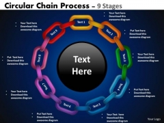 Consulting Diagram Circular Chain Flowchart Process Diagram 9 Stages Strategy Diagram