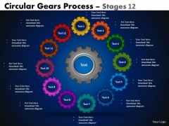 Consulting Diagram Circular Gears Flowchart Process Diagram Stages 12 Mba Models And Frameworks