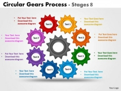 Consulting Diagram Circular Gears Process Stages 8 Business Cycle Diagram