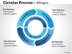 Consulting Diagram Circular Process 4 Stages 5 Sales Diagram