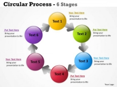 Consulting Diagram Circular Process 6 Stages Strategy Diagram