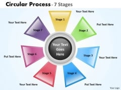 Consulting Diagram Circular Process 7 Stages Strategy Diagram