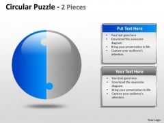 Consulting Diagram Circular Puzzle 2 And 3 Pieces Mba Models And Frameworks