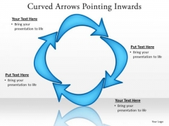 Consulting Diagram Curved Arrows Pointing Inwards Strategy Diagram