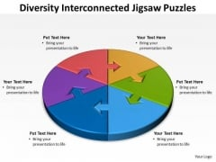 Consulting Diagram Diversity Interconnected Jigsaw Diagram Puzzles Sales Diagram