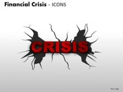Consulting Diagram Financial Crisis Icons Business Diagram