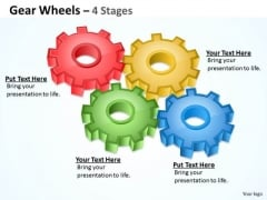 Consulting Diagram Gear Wheels 4 Stages Marketing Diagram