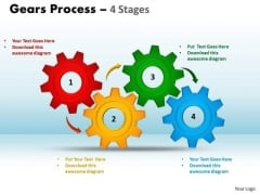 Consulting Diagram Gears Process 4 Stages Style Business Diagram