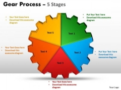 Consulting Diagram Gears Process 5 Stages Sales Diagram