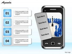 Consulting Diagram Graphic Of Mobile With Four Text Box Business Diagram