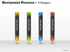 Consulting Diagram Horizontal Process 4 Stages Business Framework Model