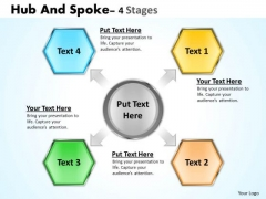 Consulting Diagram Hub And Spoke 4 Stages Business Diagram