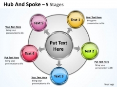 Consulting Diagram Hub And Spoke 5 Stages Business Diagram