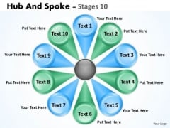 Consulting Diagram Hub And Spoke Sales Diagram