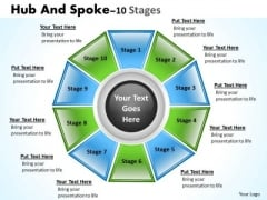 Consulting Diagram Hub And Spoke Stages 10 Sales Diagram