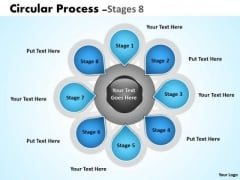 Consulting Diagram Hub And Spoke Stages 8 Marketing Diagram