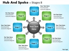 Consulting Diagram Hub And Spoke Stages Strategy Diagram