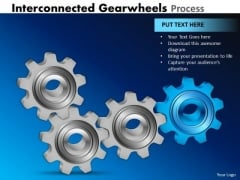 Consulting Diagram Interconnected Gearwheels Process Marketing Diagram