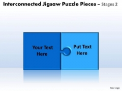Consulting Diagram Interconnected Jigsaw Puzzle Diagram Pieces Stages 2 Strategic Management
