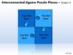 Consulting Diagram Interconnected Jigsaw Puzzle Pieces Stages 4 Strategy Diagram