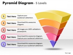 Consulting Diagram Inverse Design Pyramid With 5 Stages Marketing Diagram