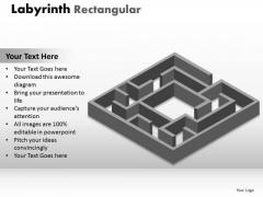 Consulting Diagram Labyrinth Rectangular Business Diagram