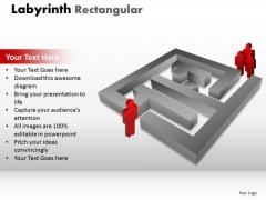 Consulting Diagram Labyrinth Rectangular Marketing Diagram