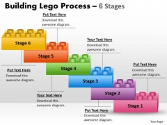 Consulting Diagram Lego Blocks Process Stages 6 Business Cycle Diagram