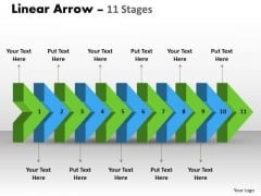 Consulting Diagram Linear Arrow 11 Stages 2 Sales Diagram