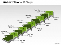 Consulting Diagram Linear Flow 10 Stages Marketing Diagram