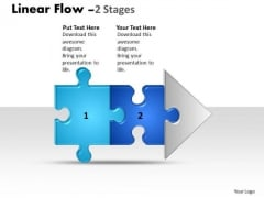 Consulting Diagram Linear Flow 2 Stages Style 1