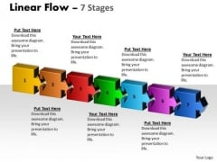 Consulting Diagram Linear Flow 7 Stages Strategic Management