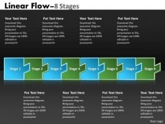 Consulting Diagram Linear Flow 8 Stages Strategy Diagram