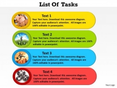 Consulting Diagram List Of Tasks Colorful Business Diagram