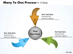 Consulting Diagram Many To One Process 3 Step
