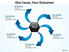 Consulting Diagram One Cause Four Outcomes Ppt Slides 16 Sales Diagram