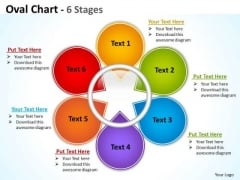 Consulting Diagram Oval Chart 6 Stages Strategy Diagram