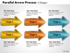 Consulting Diagram Parallel Arrow Process 3 Stages Sales Diagram