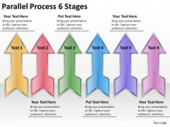 Consulting Diagram Parallel Process 6 Stages Business Cycle Diagram