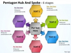 Consulting Diagram Pentagon Hub And Spoke 6 Stages Strategic Management