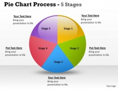Consulting Diagram Pie Chart Process 5 Stages Business Diagram