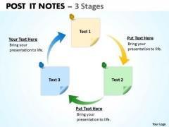 Consulting Diagram Post It Notes 3 Stages Strategy Diagram