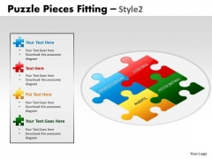 Consulting Diagram Puzzle Pieces Fitting Style 2 Sales Diagram